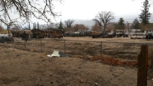 The future engine house site now cleared of wagons and artifacts.